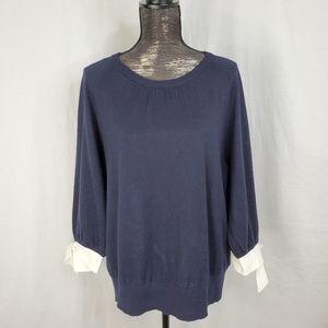 Boden Addie Contrast Tie Sleeve Sweater